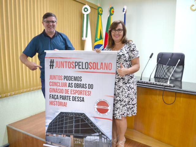 Solano lança campanha para concluir ginásio de esportes