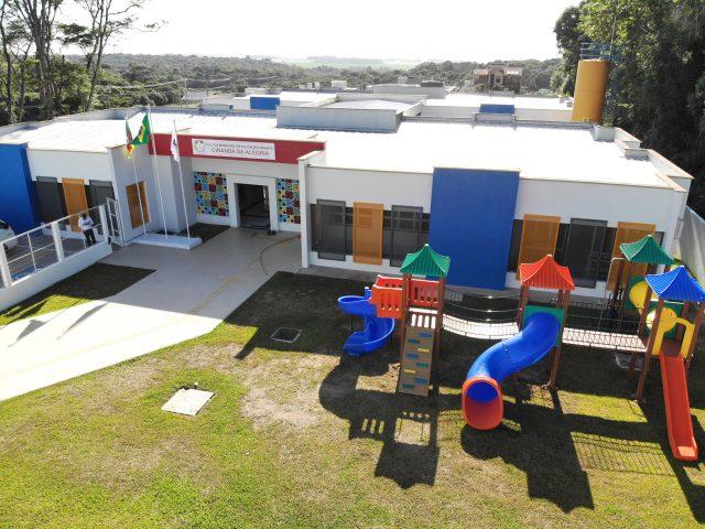 Um novo prédio escolar para 150 crianças