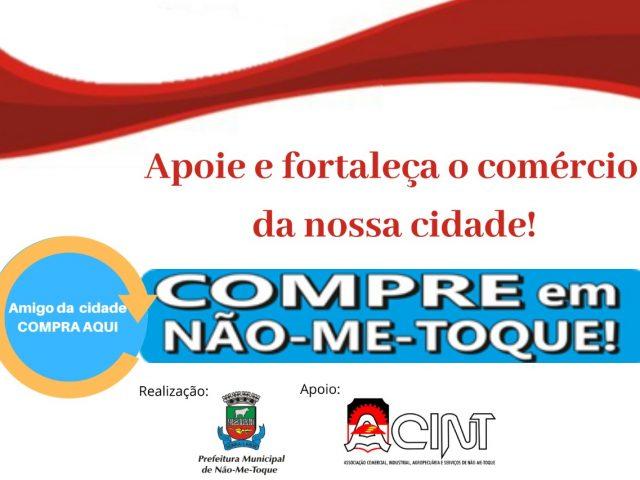 Prefeitura e Acint lançam campanha de incentivo ao comércio local.