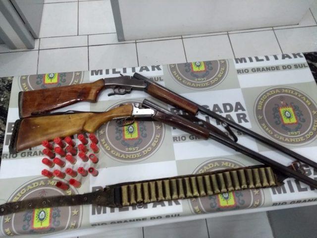Brigada Militar prende dois homens por porte de arma em Soledade