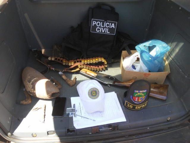 PC e BM cumprem mandado de prisão em Tio Hugo