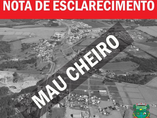 Prefeitura de Tio Hugo divulga nota de esclarecimento sobre mau cheiro
