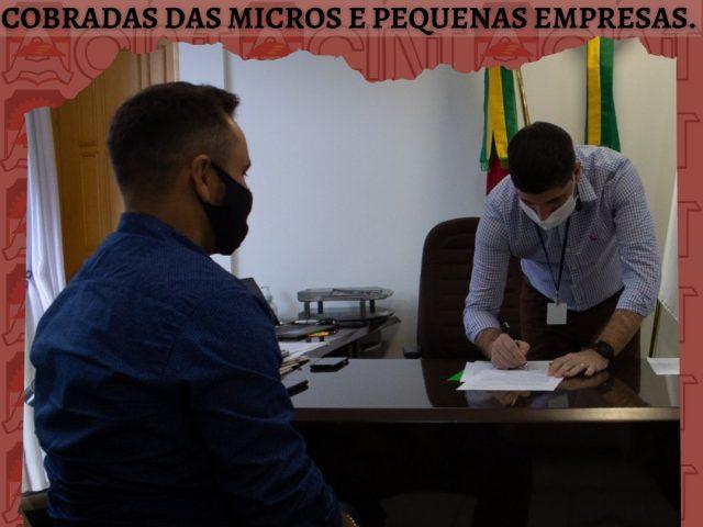 ACINT busca junto ao Executivo Municipal a redução de taxas cobradas de pequenas e micro empresas