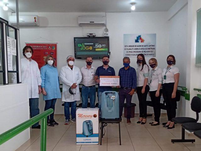 Unidade de Saúde de Santo Antônio do Planalto recebe 5 mil reais da Cooperativa Cresol