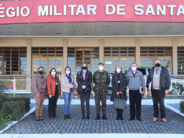 Poder Executivo visita Colégio Militar de Santa Maria para estudar implantação de Escola Cívico-Militar em NMT