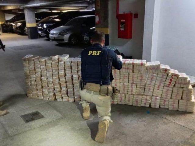 R$ 63 milhões de prejuízo para os criminosos: PRF prende traficante com 420 quilos de cocaína