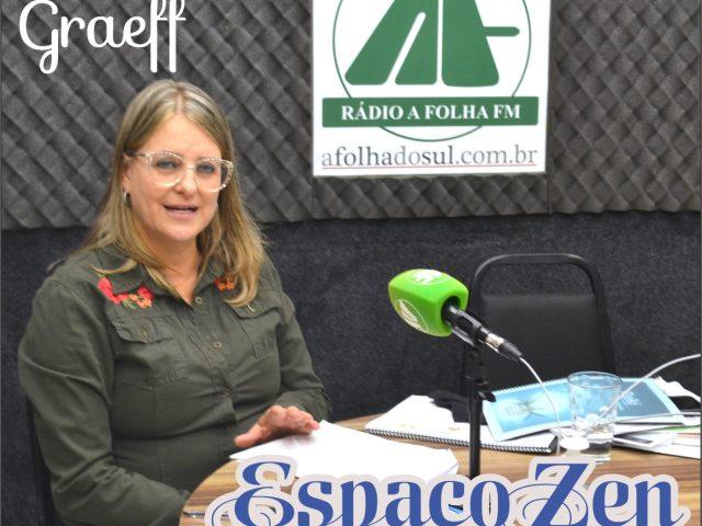 Terapeuta Cecília Graeff participa dp programa meu Domingo com Você, Rádio A Folha FM