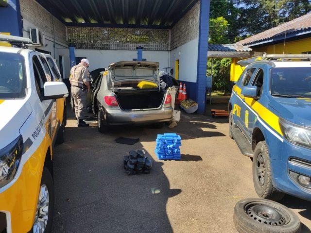 PRE e PRF realizam prisão de traficante com grande quantidade de drogas na ERS-324 em Passo Fundo