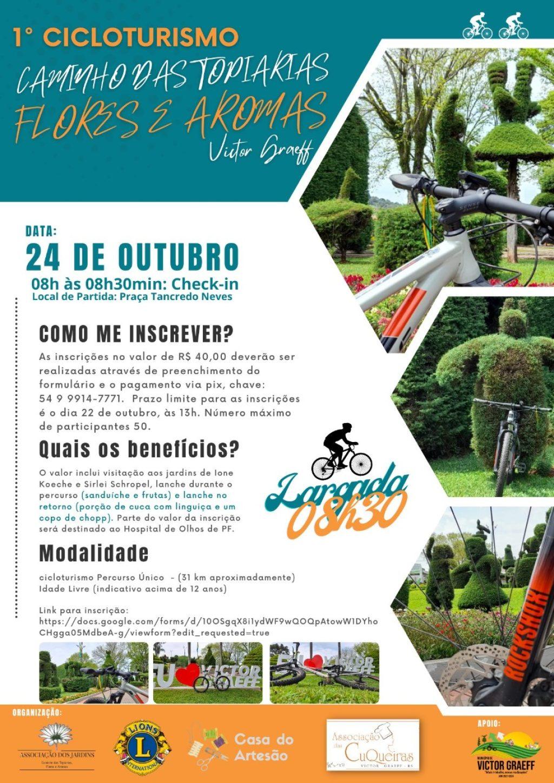 Vem aí o 1º Cicloturismo Caminho das Topiarias, Flores e Aromas