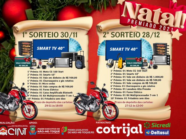 Acint lança Natal Premiado com R$ 40 mil em prêmios